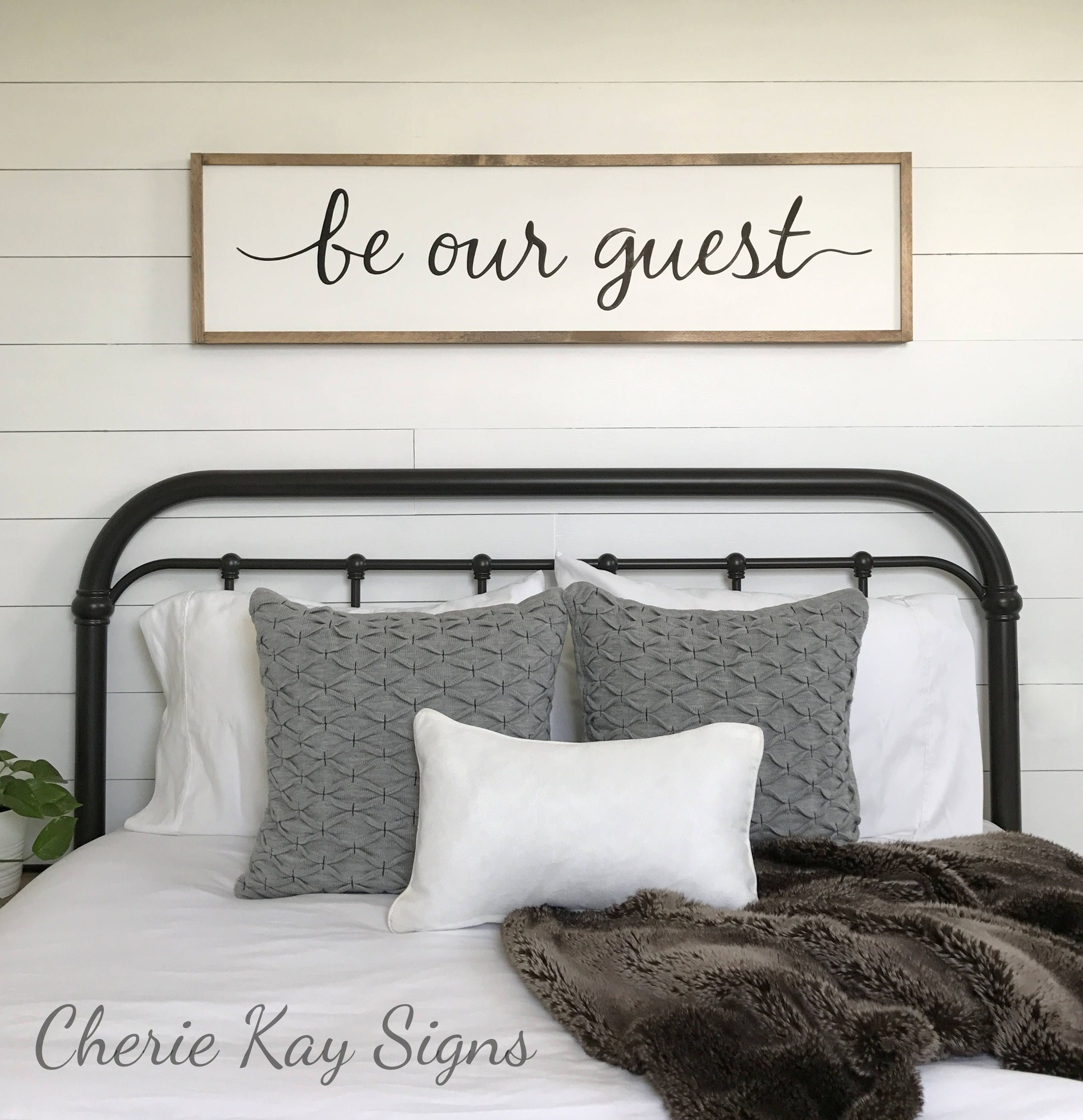 Guest Room Decor Be Our Guest Sign Framed Sign Home Wall