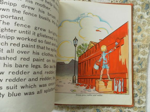 SnippSnappSnur and The Red Shoes Maj Lindman by ArtandBookShop