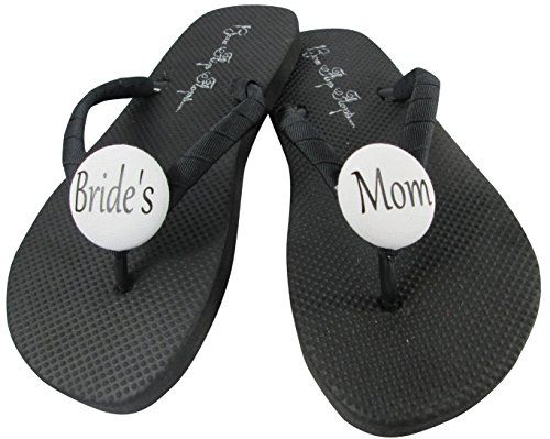 8e66d225a5652 Grooms Mom Brides White Flip Flops for the Wedding Mother of the Groom  Sandals Shoes Ladies