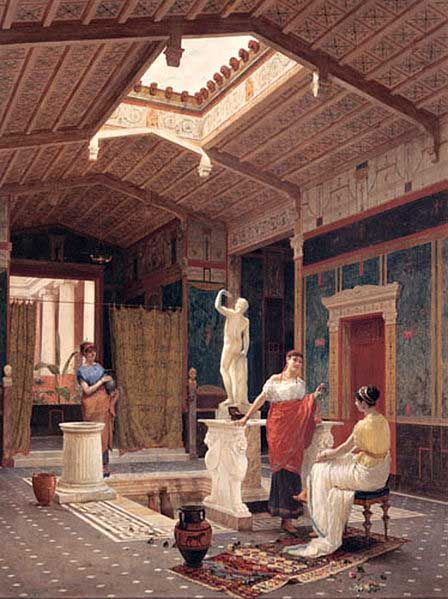 Ancient roman homes domus interior typical upper class home republic also latin for rh co pinterest