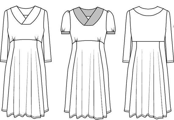 https://www.etsy.com/de/listing/234721249/v-neck-dress-sewing-pattern-fitted
