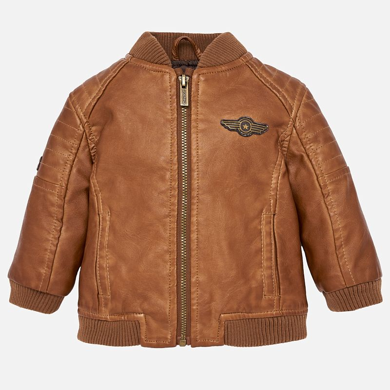 Mayoral Baby Boy Leather Jacket Brown Two Birdees Ropa Para Nino Recien Nacido Ropa Para Ninos Varones Ropa Para Bebe Varones