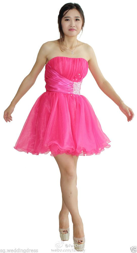 FairOnly Stock Girl\'s Mini Homecoming Evening Dresses Size 6 8 10 12 ...
