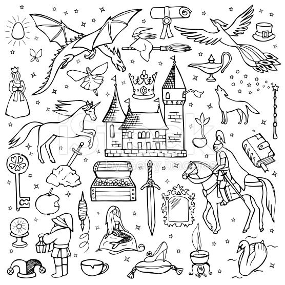 Doodle Fairytale Google Zoeken Doodle Illustration Doodle Images Fairy Drawings