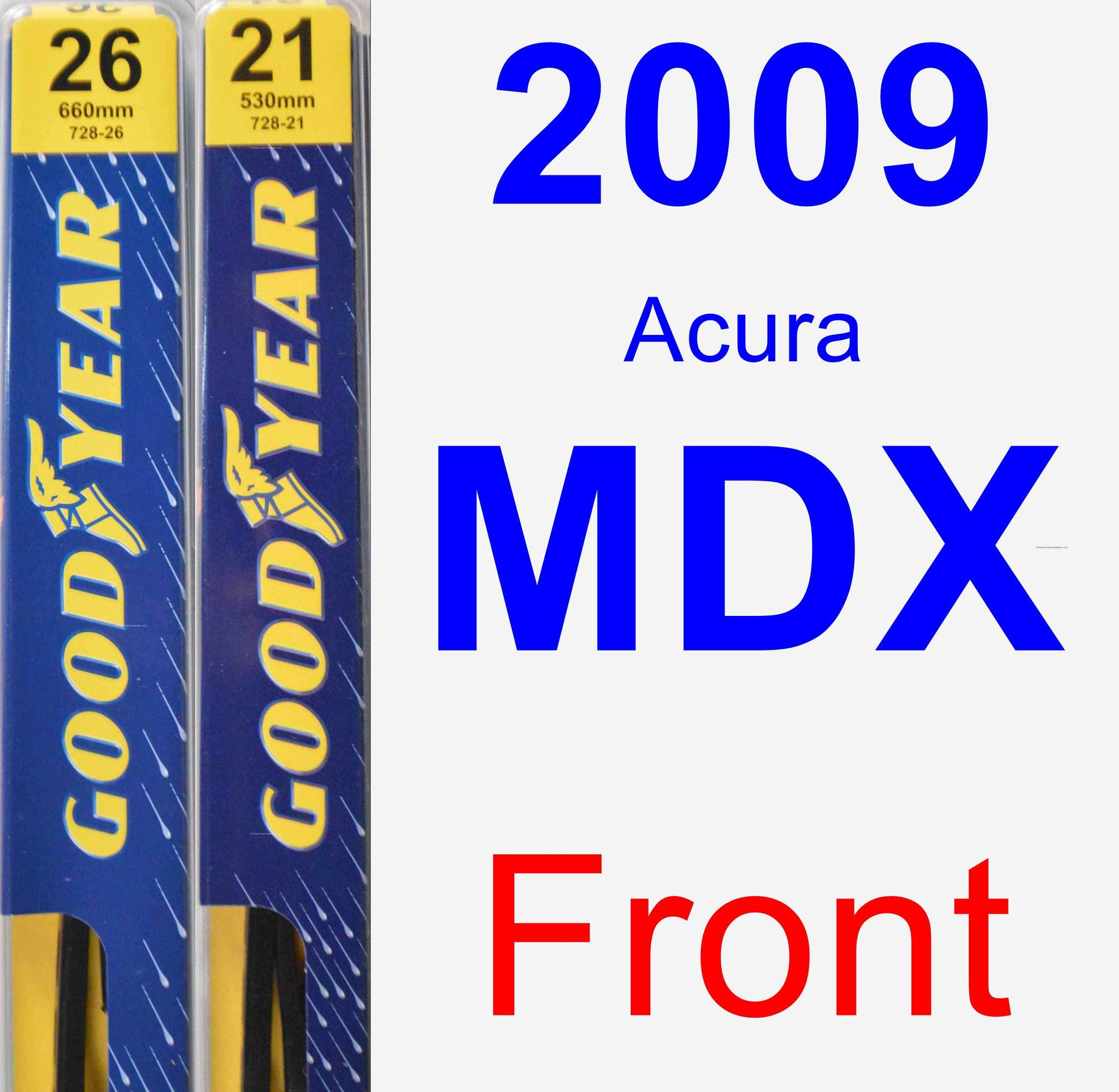 front wiper blade pack for 2009 acura mdx premium