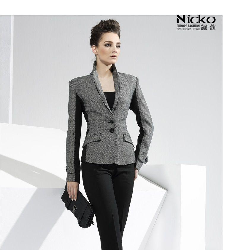 d95148b63 Ventas calientes 2016 del otoño del resorte diseñador moda elegante mujeres  trajes de negocios formales de oficina trabajan  S023