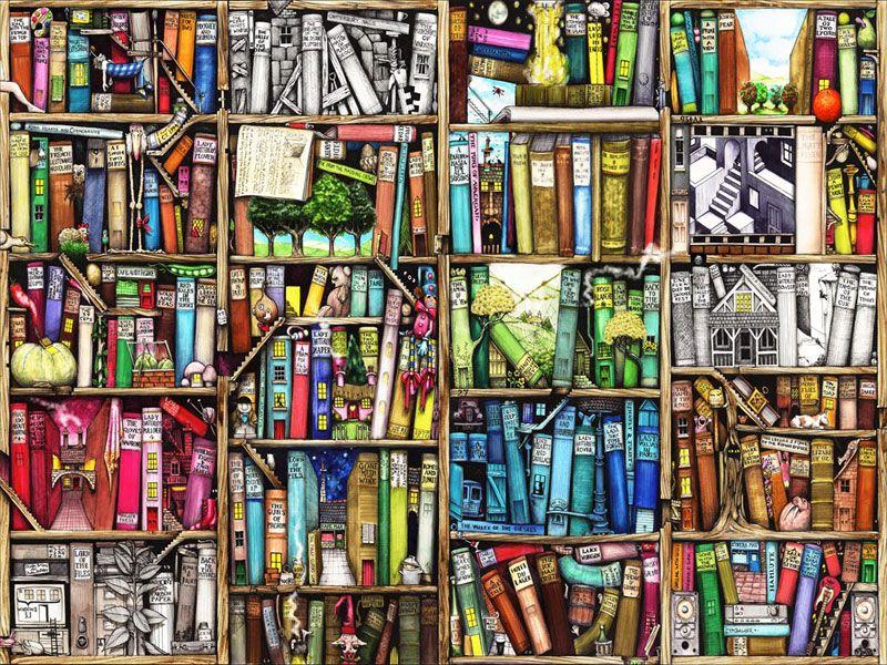 Puzzle En Bois Bibliotheque 1000 Pieces Wentworth Art Sur Livre Photo Fond Ecran Puzzle En Bois