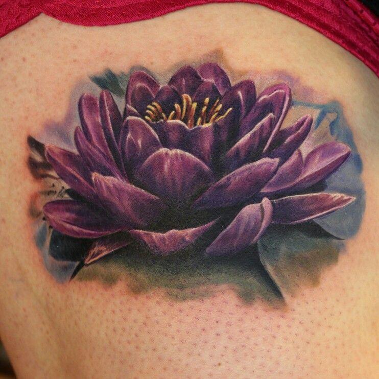Nice Ink Purple Tattoos Lily Flower Tattoos Black Lotus Tattoo