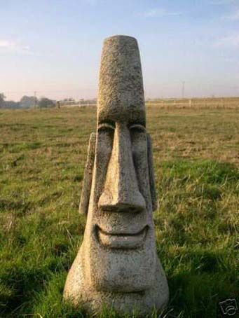 Island Head Statues » Stunning Easter Island Head Garden Tiki Statue