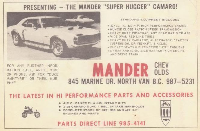 The Mander Super Hugger Camaro Vintage Muscle Cars Camaro