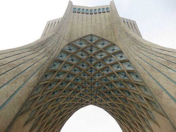 The building was designed by Hossein Amanat. Via - iransdesign.com