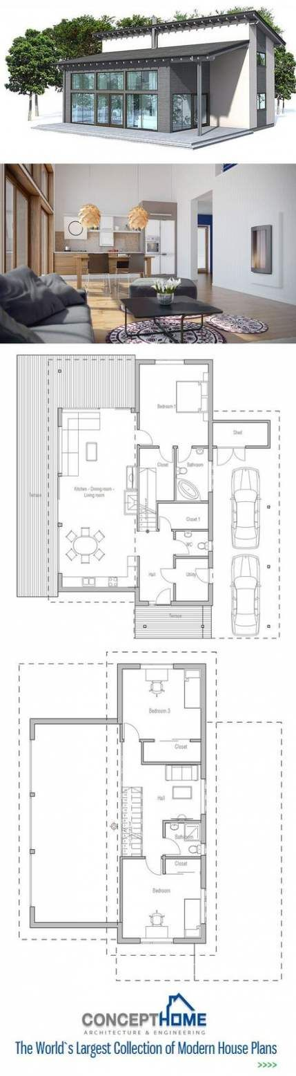 Super House Small Modern Floor Plans Spaces Ideas New House Plans Craftsman House Plans House Architecture Styles