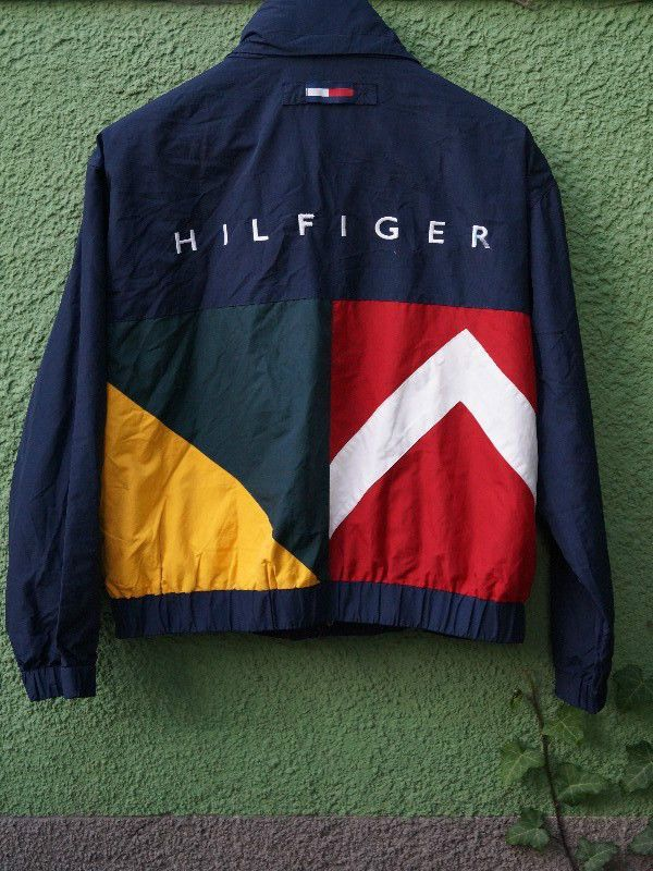 Vintage Tommy Hilfiger Rare Navy jacket Size - L - plus size mens clothing, mens  clothing brands, mens clothing suits 6bf22eb5ee