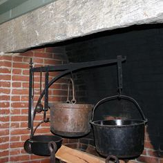Central Chimney Fireplace with Hand Forged Crane and Trammels ...