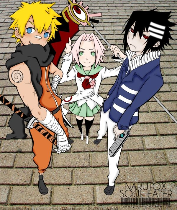 Naruto Soul Eater Crossover by chuchie7 on DeviantArt
