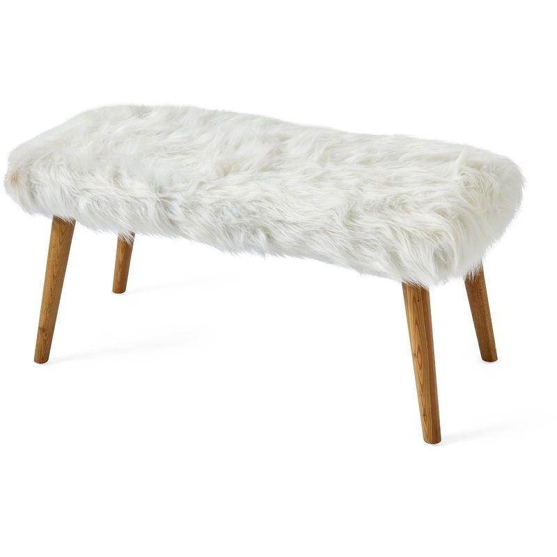 Kodu Fluffy Ottoman White White fluffy chair, Dorm