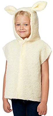 Amazon.com: Charlie Crow Lamb/Sheep Costume for Kids one Size 3-8 Years Cream: Toys & Games #sheepcostume