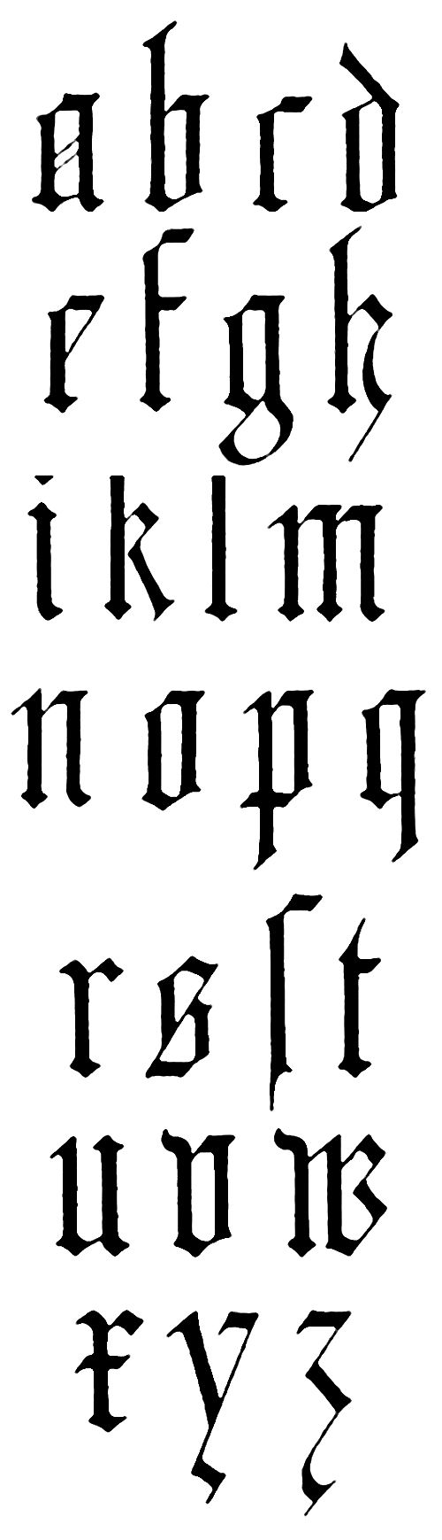 Gothic Lettering German 2