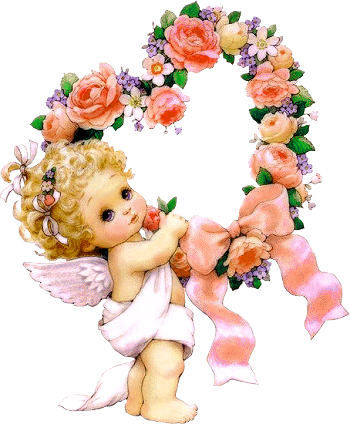 Cute Little Angel With Flowers Png Clipart Angel Pictures Angel Images Baby Angel