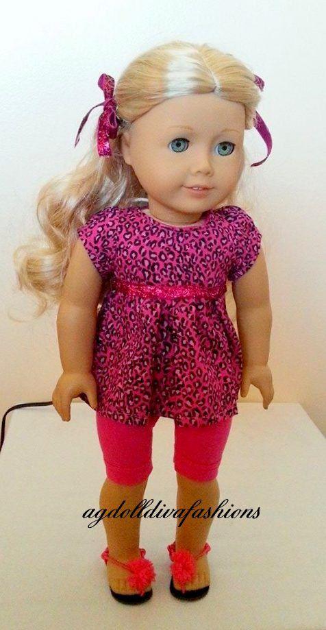 American Girl Doll Hot Pink Babydoll Shirt by AGDollDivaFashions