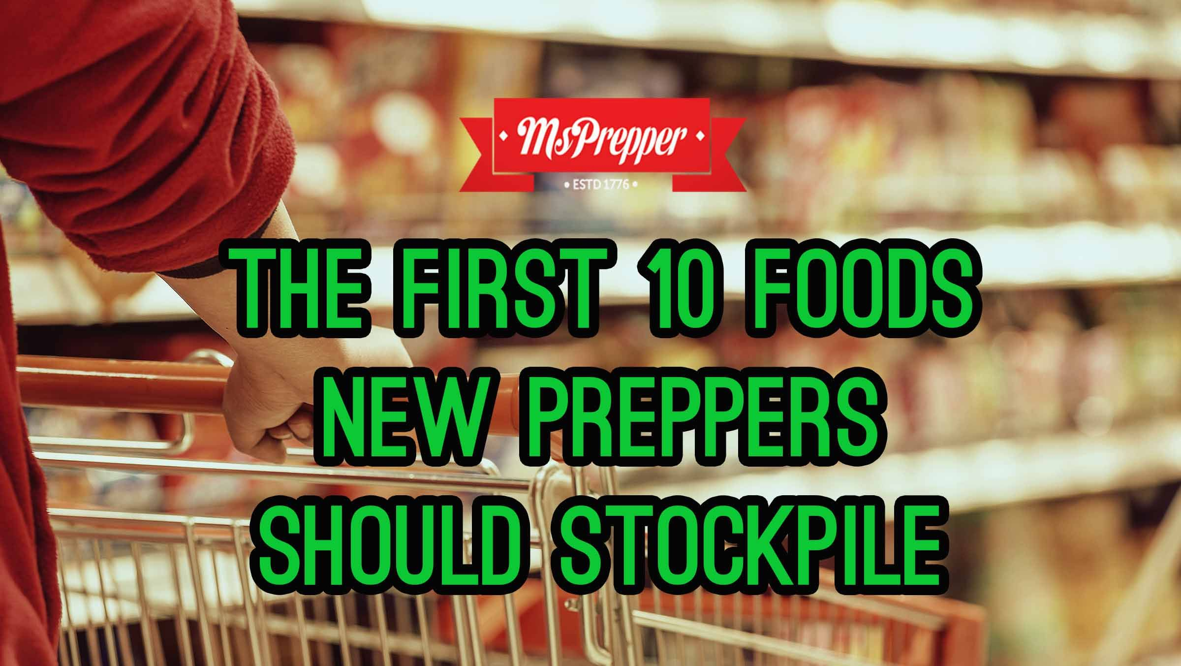 If you are just beginning your prepping journey, here are the 10 foods you should stock up on first!  #Prepping #Preppers #Homesteading #Survival #MsPrepper