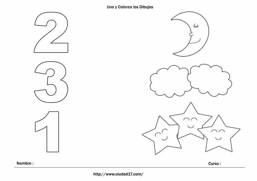 Ficha de números para preescolar | numeral | Pinterest | Fichas ...