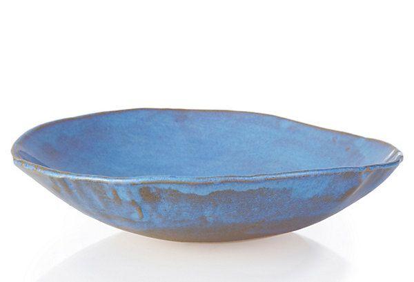 One Kings Lane Tivoli Tile Works Fruit Bowl Blue