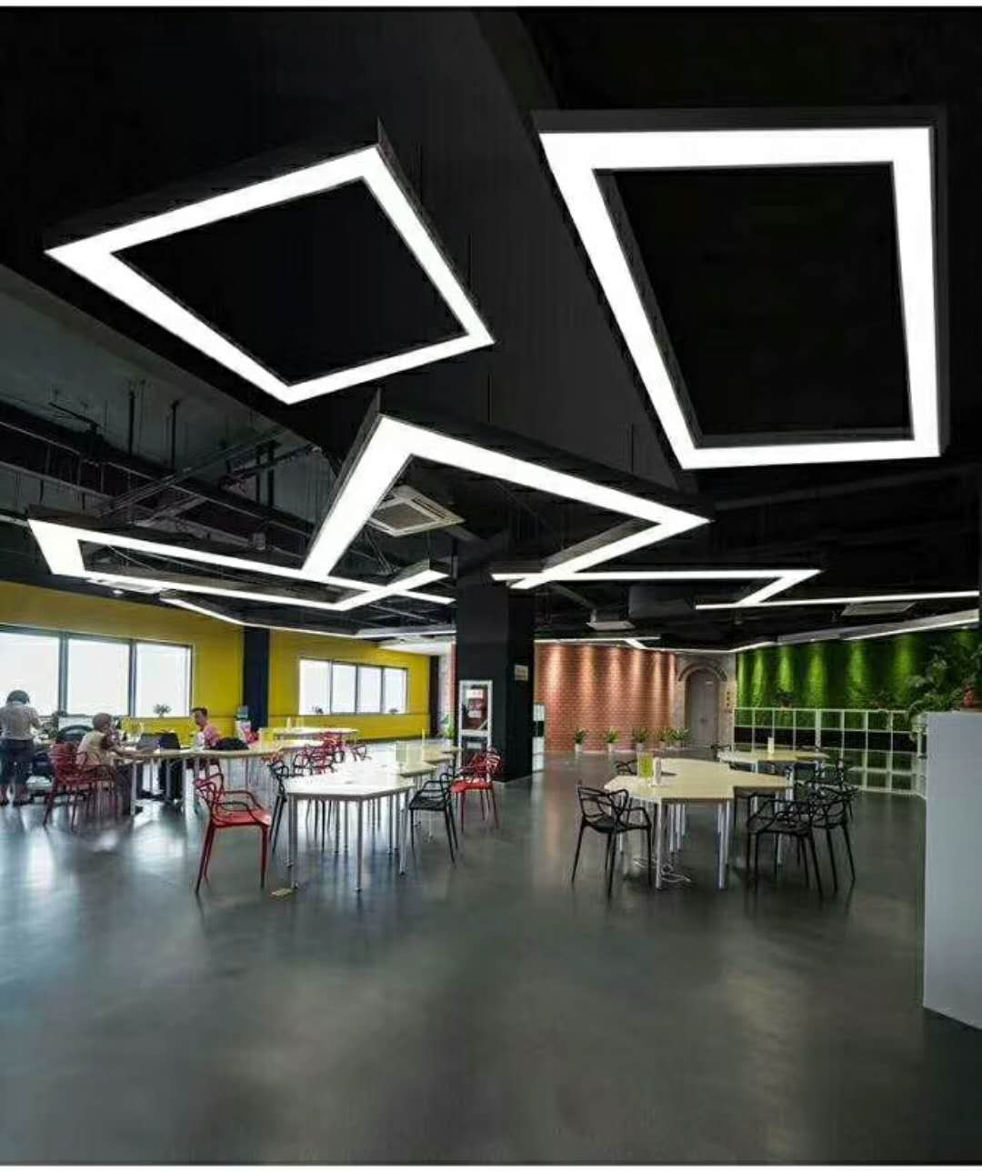 Led Office Lights Linear Rectangle Led Office Light Tubular Lighting In 2019