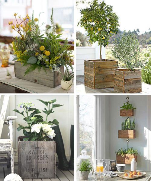 Maceteros de madera reciclada -II Jardin, ideas y diseño - maceteros para jardin