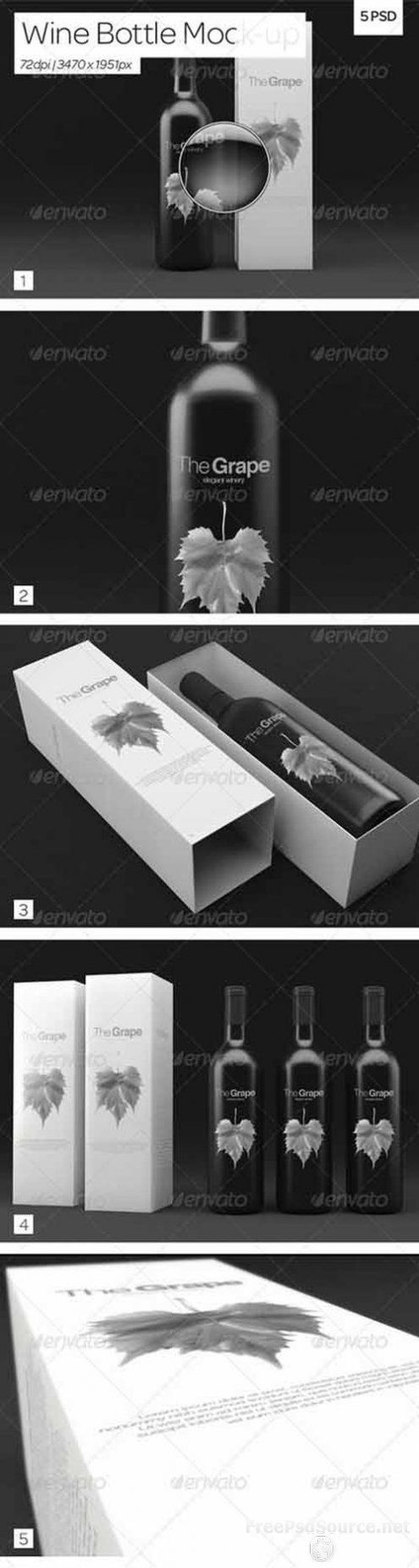 Download Psd Wine Bottle Packaging Mock Up Graphicriver Free Free Download Psd Source Tutorials Vect Wine Bottle Packaging Bottle Packaging Wine Bottle Design
