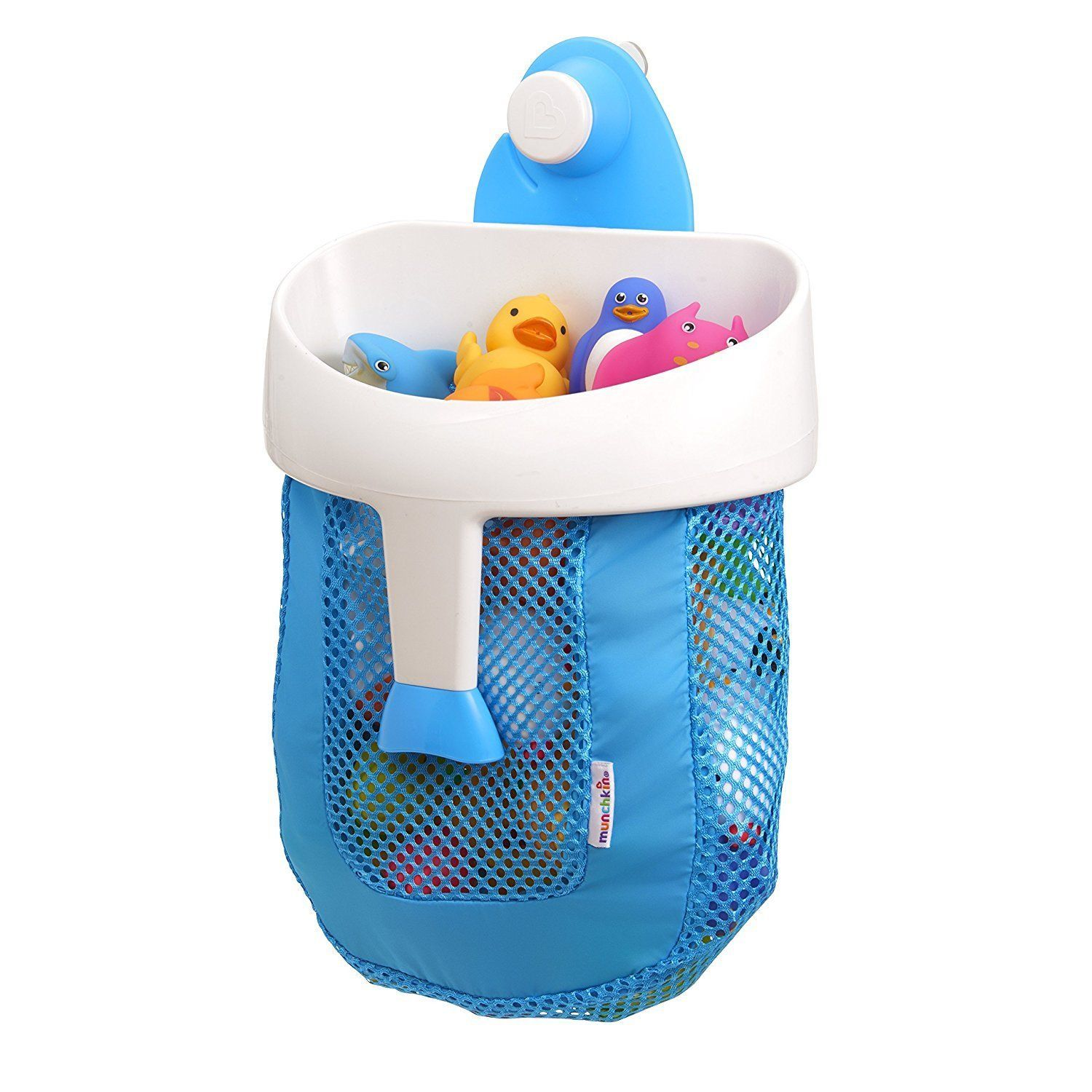 Bath Toy Organizer Hanging Mount Tub Kids Toddler Baby Blue
