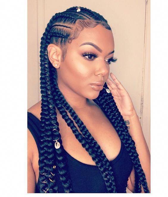 Beautiful Fulani Inspired Braids and hairstyles. #braidedhairstylesforblackwomen