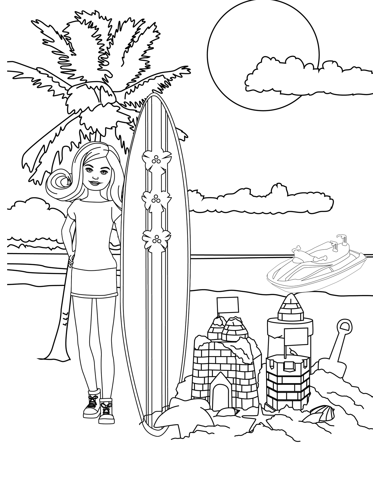 Customizable Barbie Coloring Page - Check out see.walmart.com/barbie ...