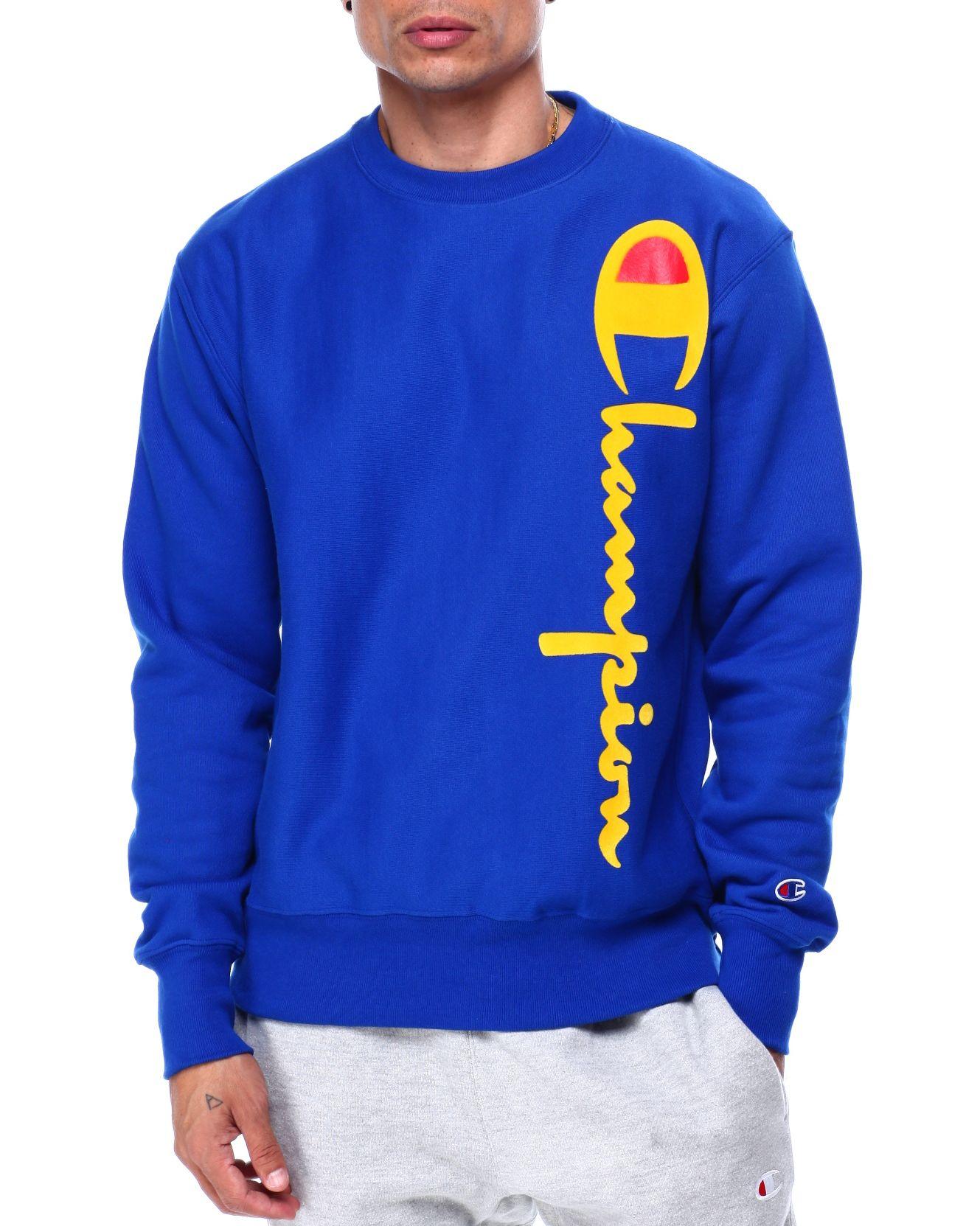 Buy Oversized Flock Crewneck Sweatshirt Men S Sweatshirts Sweaters From Champion Find Champion Fashion Mens Champion Sweatshirt Sweatshirts Sweatshirt Shirt [ 1663 x 1329 Pixel ]