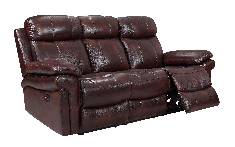 Joplin Reclining Power Sofa By Leather Italia Usa Shae
