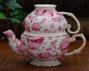 Pink Rose Chintz Tea for One