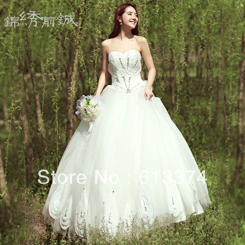 40+ White peacock wedding dress information