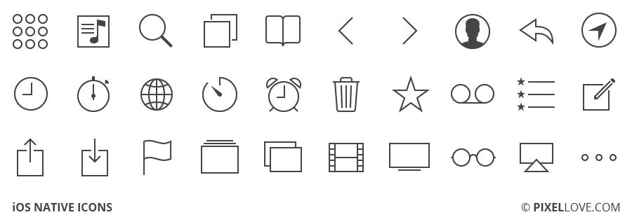 ios native icons icons toolbar icons ios icon �� line icon