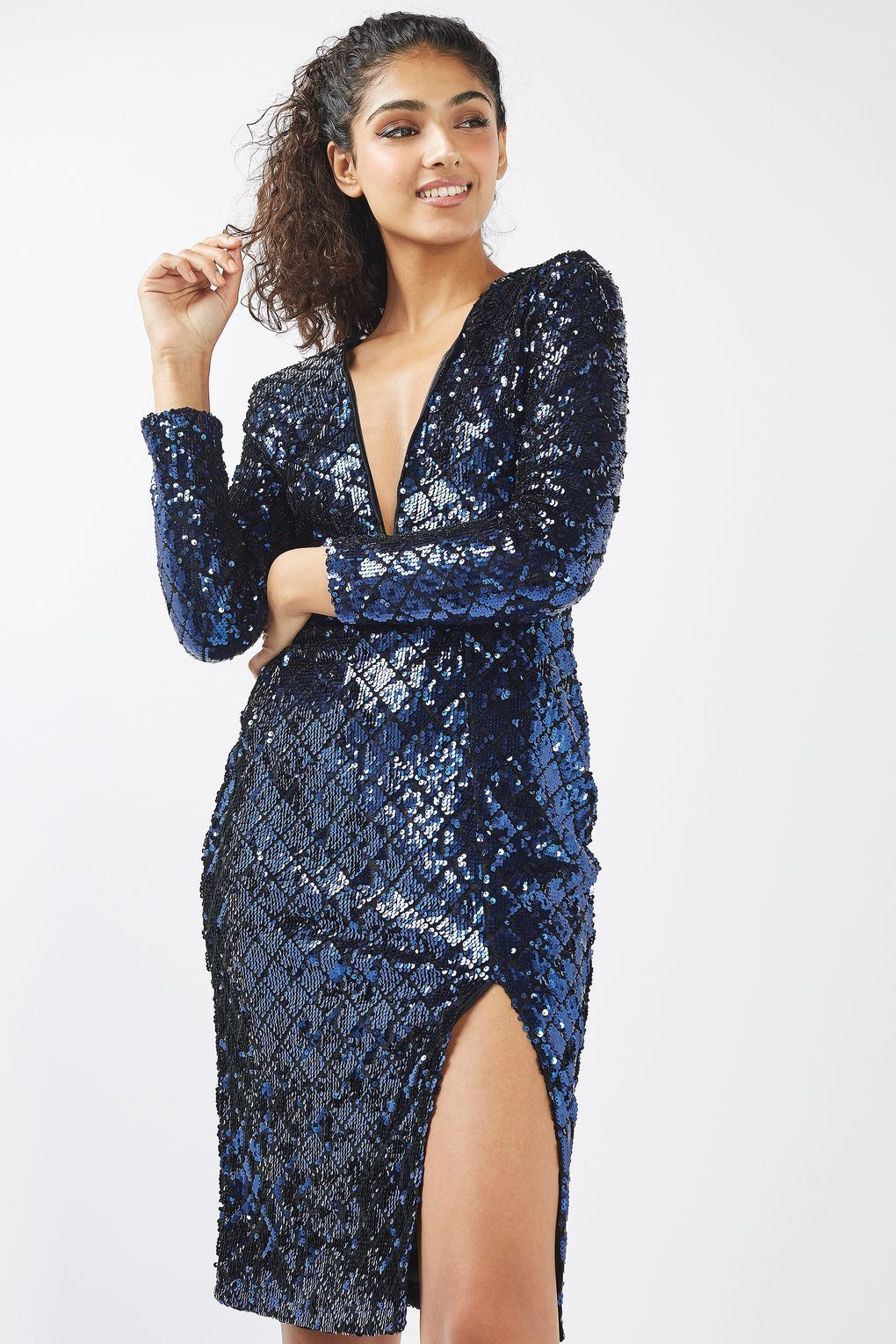 8b2a7e653304 Long Sleeve Textured Sequin Dress by Rare | My Style Pinboard ...