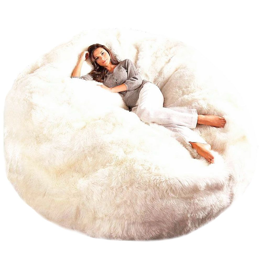 Large Jumbo Sheepskin Fur Bean Bag Chair Cover Unfilled Only Free Shipping Wrap Yourself In Softne Bean Bag Chair Giant Bean Bag Chair Bean Bag Chair Covers