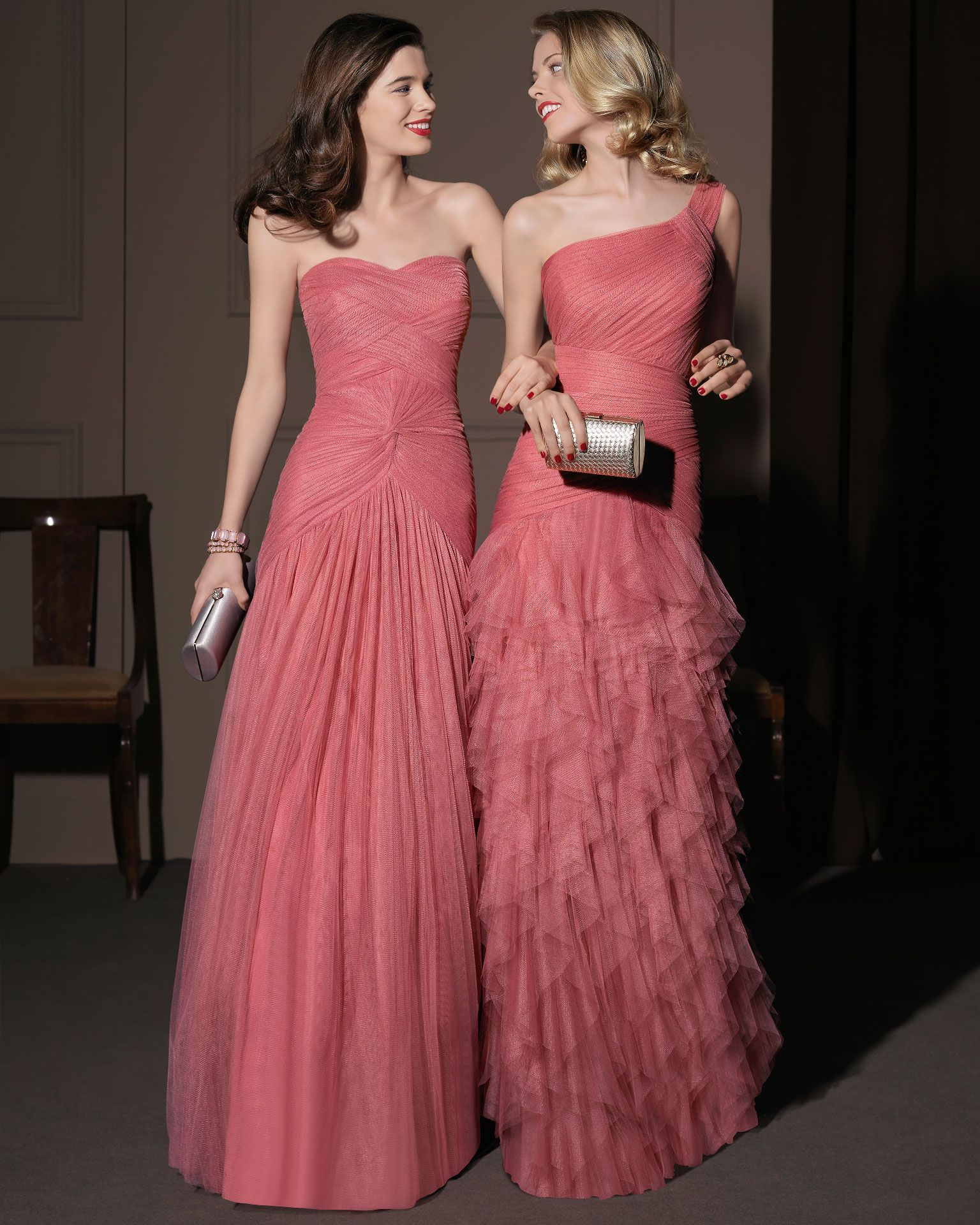 Gorgeous 2014 Bridesmaid Dresses from Aire Barcelona rose ruched ...