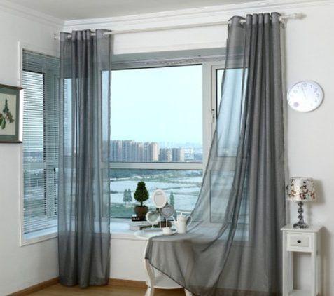 decoracion de ventanas oro en 2019 decoraci n de ventanas cortinas de tul y cortinas. Black Bedroom Furniture Sets. Home Design Ideas