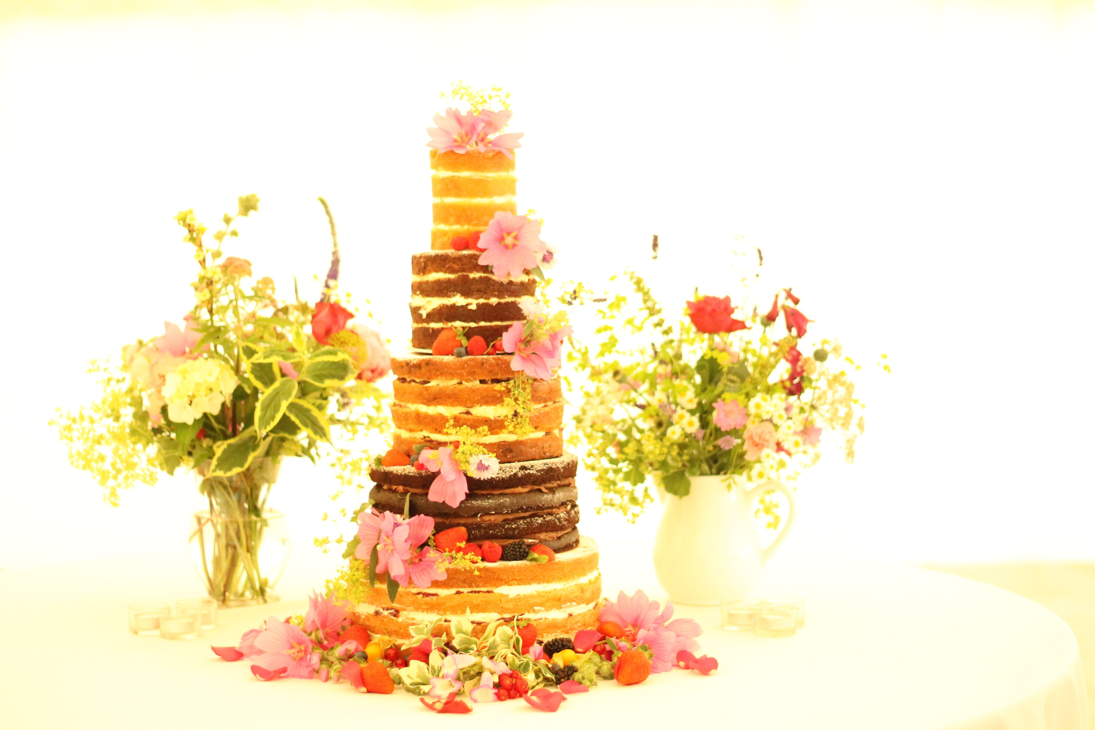 tier multi flavoured naked cake naked cakes pinterest naked