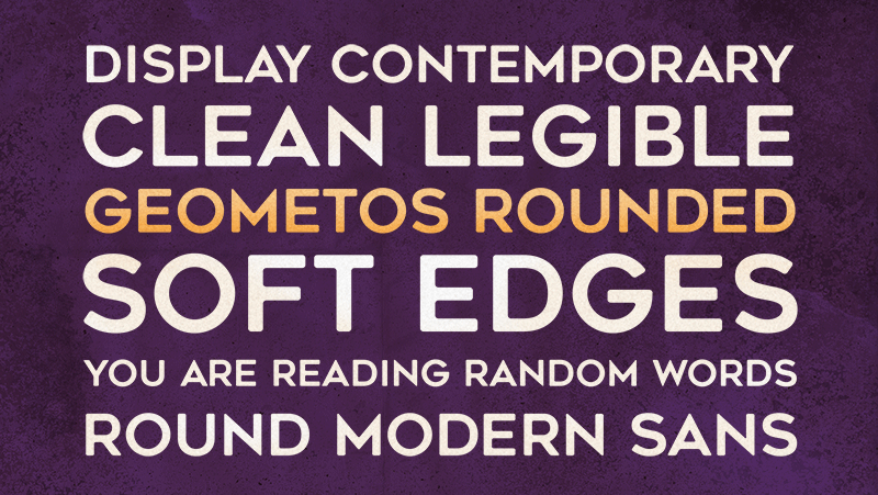 Geometos Rounded Font 15 USD for commercial