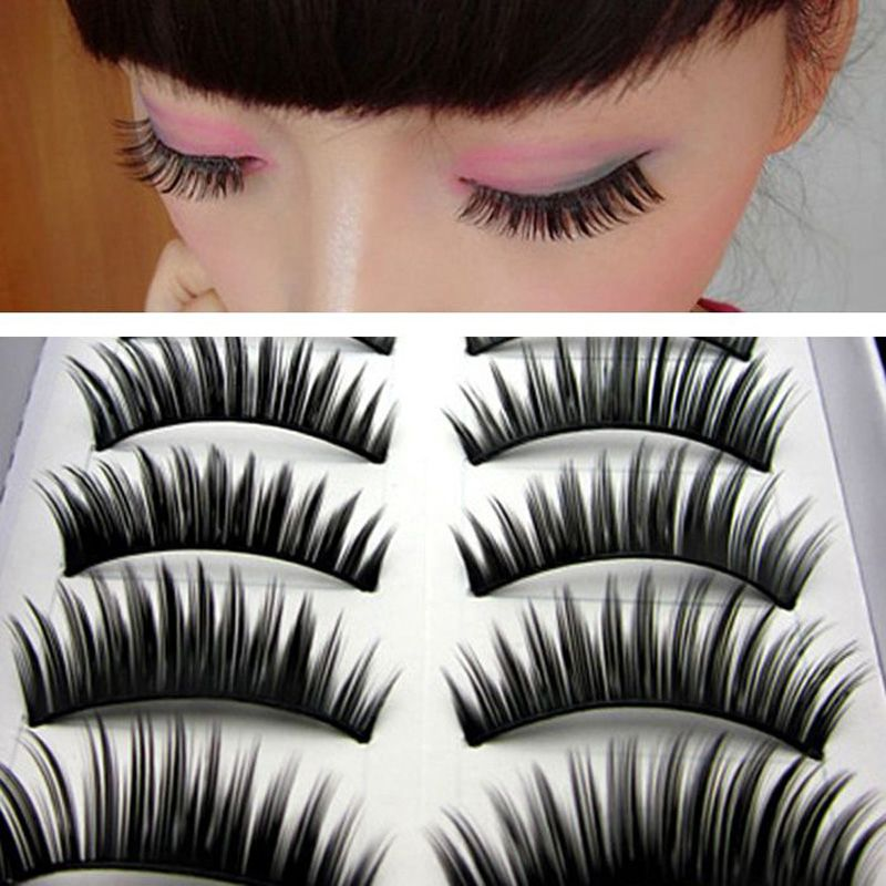 20pairs/Lot Long Fahion Thick False Eyelashes Eyelash Eye Lashes Voluminous Black False Eyelashes Makeup Tips Beauty
