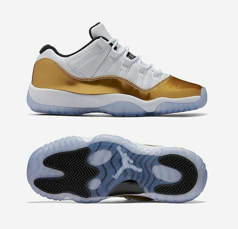 Gold and white 11's | Air jordans, Air