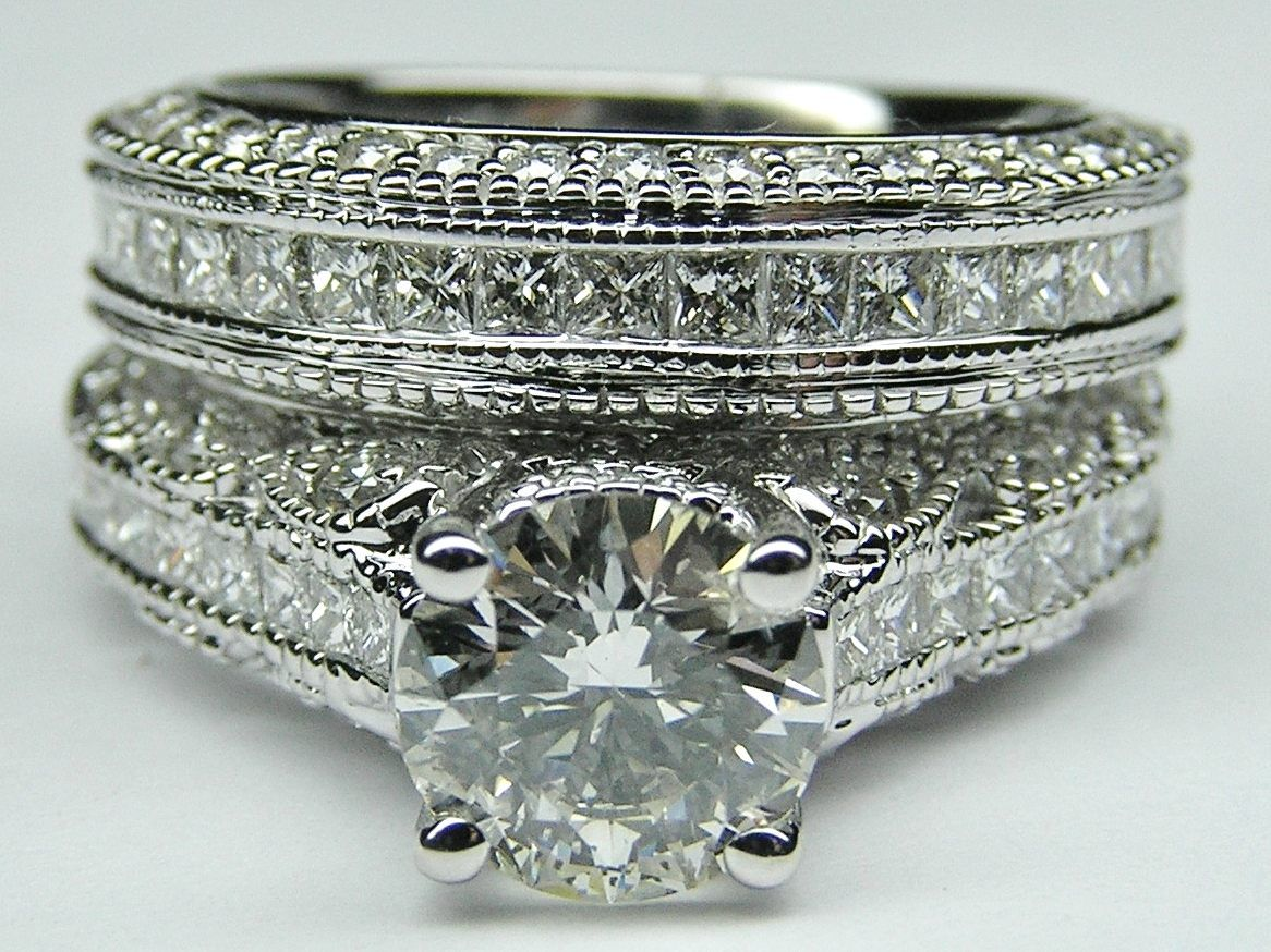Vintage Three Side Pave Engagement Ring .. My dream wedding ring!