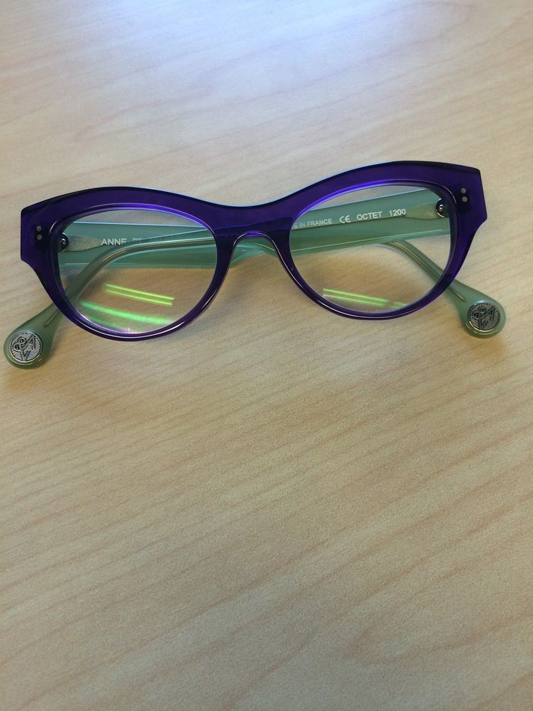 Anne et Valentin Octet Purple/Green Eyeglasses with Progressive ...