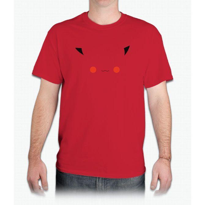 Minimalist Pokemon, Pikachu - Mens T-Shirt