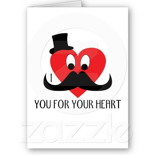 Customize I mustache you for your heart Card by PLdesign